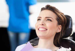 Beautiful smiling female patient