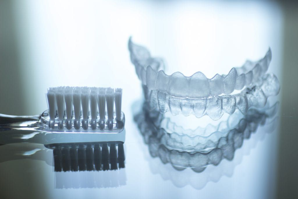 Toothbrush and Invisalign liner